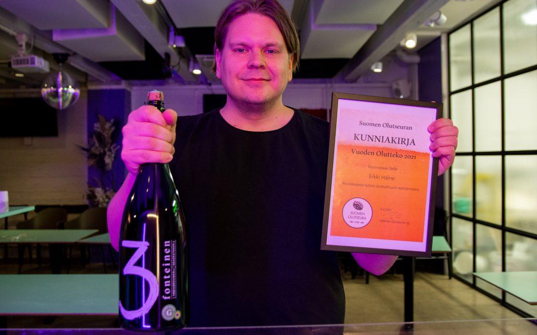 Vuoden olutteko -tunnustus Erkki Hämeelle